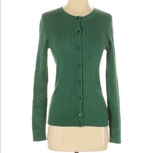 Talbots Hunter Green Cardigan Sweater Small